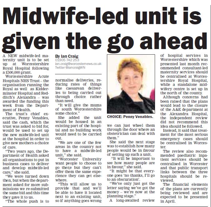 midwife led unit wrh